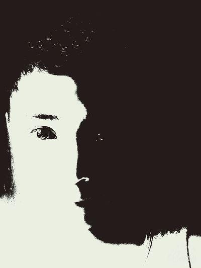 Selfie Art B&w