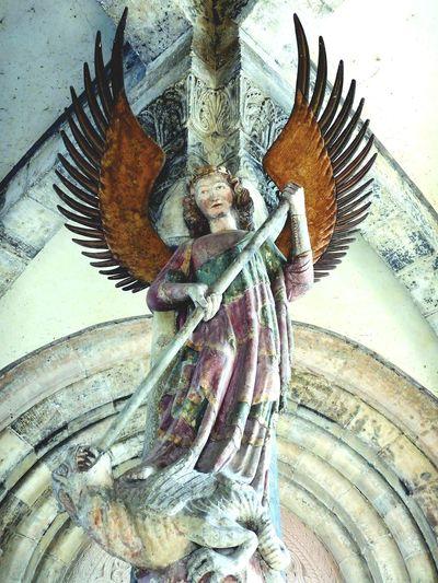 Saint Michael St. Michael Schwäbisch Hall Church Statue Kirche Religious Art Art And Craft Close-up No People Indoors  Day