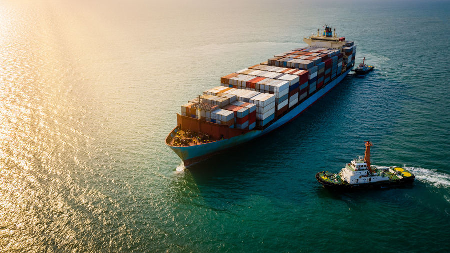 Shipping cargo logistics business and industry service import export international transportation