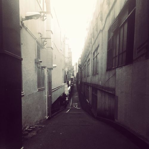 Empty Alley Street Path Tokyo