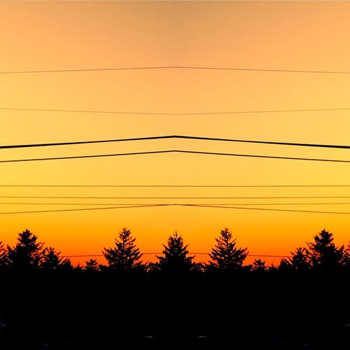 Everthing perfect on the wrong day Mirrored Art is Everywhere Abstract Art Abstract Golden Hour Sunset Sunset_collection Cable Sunset Orange Color Silhouette Power Line  Electricity  Nature Power Supply No People Beauty In Nature Scenics Sky Outdoors Tree Telephone Line