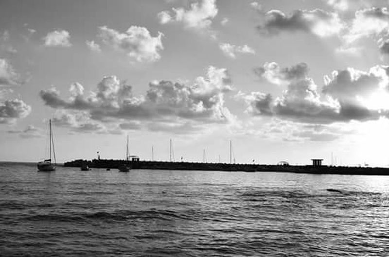 Anima latina. Water Sky Sea Outdoors No People Nautical Vessel Tall Ship Nature Day Landscape Undergroundphotography Vacations Black & White Blackandwhite Photography Beach Walking Horizon Over Water Travel Destinations Beauty In Nature Indoors  Cloud - Sky Nature