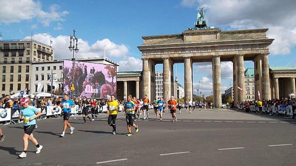 Berlin Marathon  Brandenburger Gate City Center Architecture City Laufen People Sport