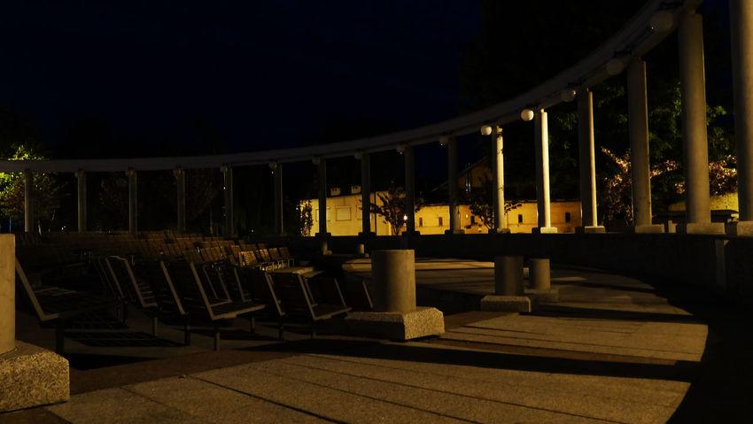 Plac Teeatralny Architecture Built Structure Illuminated Night No People Noc Outdoors Sky Square Wałbrzych Światło
