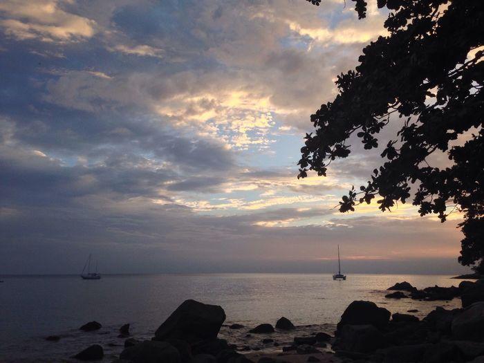 Lamdscape View Sea Sunset