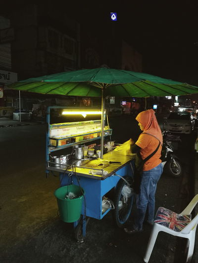 street food to night Outside Outdoors Street Streetphotography Street Food Street Night Night People Lifestyles Light Road Full Length Illuminated Occupation Working