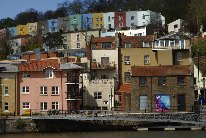 Bristol, Clifton Wood and Hotwells from Bristol Harbour Architecture Bright Colors Bristol Bristol Harbour Bristol Uk Building Exterior Built Structure City Colorful Houses Hotwells Houses No People Residential Building Urban Landscape Water