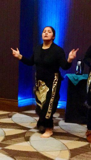 Lummi Youth dancer at fund raising event