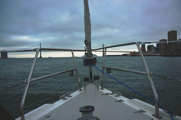 ⛵ Sailing San Francisco Oakland Bay Bridge Bay Area California Pacific Coast Yacht