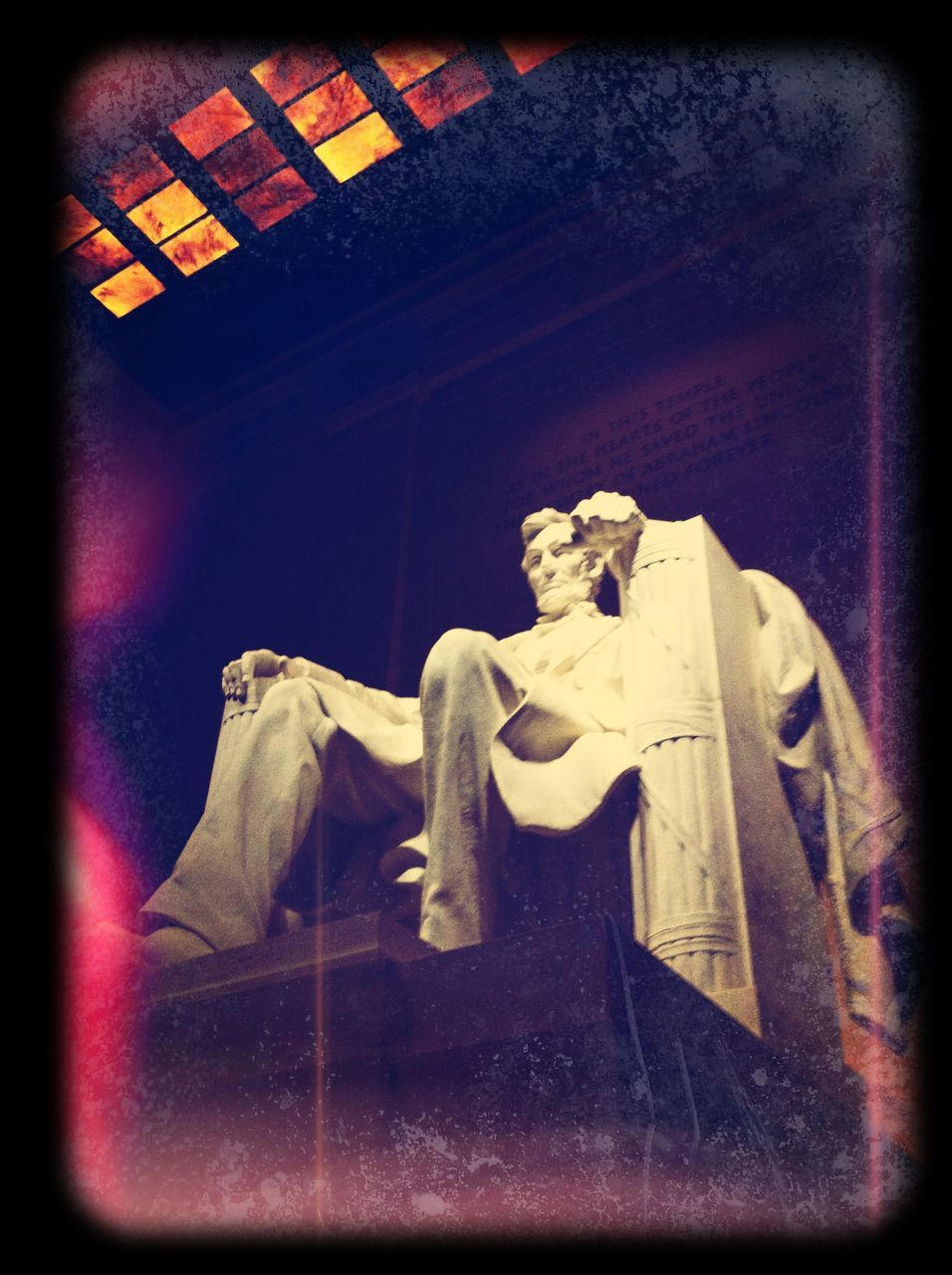 Statue Of Abraham Lincoln Inside Lincoln Memorial