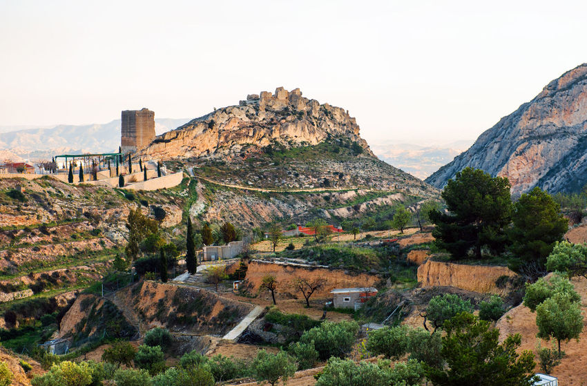 Surroundings countryside and ruins of Jijona/Xixona Castle of the Great Tower. Alicante province, Costa Blanca. Spain Alicante, Spain Ancient Architecture Beauty In Nature Castle Costa Blanca Day Europe Fortess Fortification Hilltop Jijona Landmark Landscape Medieval Architecture Mountain Nature No People Outdoors Ruined Castle Sky SPAIN Tourism Tower Travel Destinations Xixona