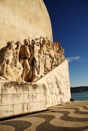 Portugal Lisbonne Lisboa Trip Explorateurs Monument Historique Monuments Padrão Dos Descobrimentos
