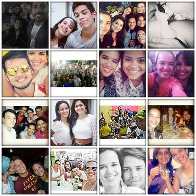 """Quando se trata de amigos, eu encho meu peito e digo """"tenho muita sorte por isso"""". Afinal, tenho amigos que roubei da namorada (lurras), tenho namoradaEamiga, tenho uma família de amigos (quarteirão), tenho aquelas das antigas, tenho os que me proporcionaram momentos únicos, tenho uns que são tão antigos que nem foto junto eu tenho... enfim... eu sou muito feliz por ter vocês comigo, meus lindos, amo vocês! ? Diadoamigo Amores"""