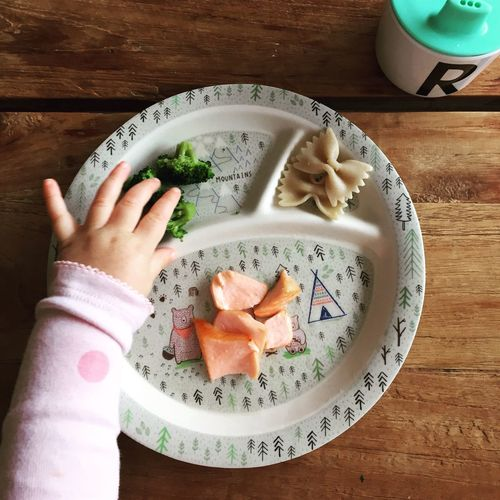 Food And Drink Plate Food Healthy Eating Freshness Indoors  Table One Person High Angle View Human Body Part Real People Human Hand Breakfast Ready-to-eat Healthy Lifestyle Lifestyles Close-up Day People Baby Babyfood Weaning Be. Ready.