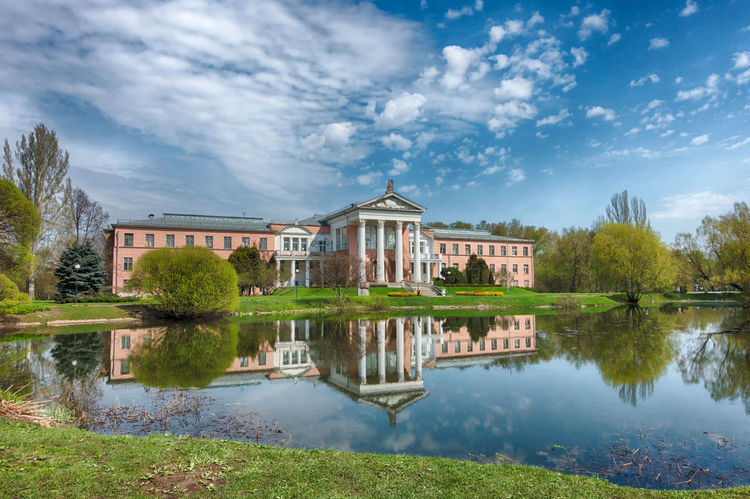 Botanical garden, Moscow Architecture Water Building Exterior Built Structure Tree Reflection Sky Cloud - Sky Springtime Day Hdrimage HDRphoto Sonyphotography Sony Rx100m3 Sunny Weather Hdrphotography Holiday Reflections Idyllic Tranquility Lake Reflection Sky Photography Moscow