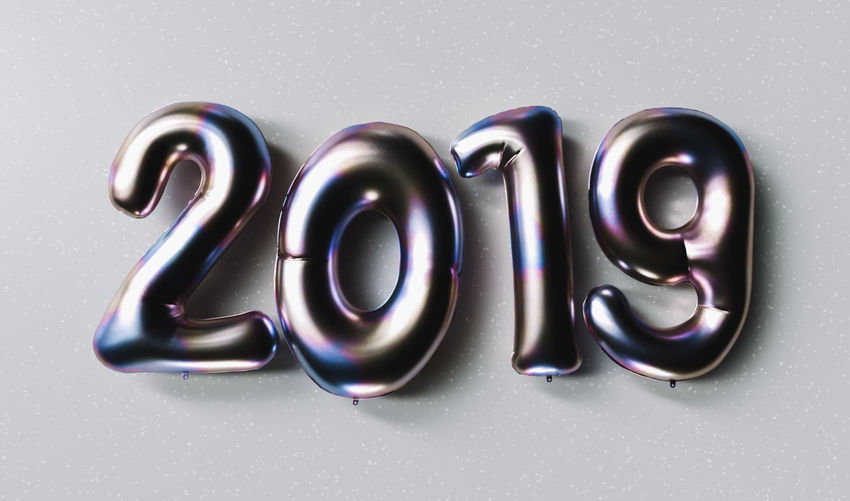 New year 2019 celebration. Silver Purple metallic numeral 2019 on gray background. New Year's Eve, concept image Year White Background Typography Text Table Symbol Studio Shot Still Life Silvester Silver Colored Silver  Shiny Shine Shape Season  Sale Purple Promotion Present Pink Offer Numeral Number No People New Multi Colored Metallic Metal Luxury Lettering Isolated Indoors  Holiday Happy Group Of Objects Greeting Gray Golden Glossy Glitter Geometric Shape Font Flying Fireworks Festive Event Eve Discount Design Congratulations Confetti Close-up Circle Christmas Champagne Celebration Celebrate Calligraphy Calendar Black Color Banner Balloon Background 2019 2018