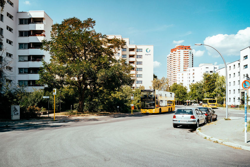 South of Berlin in the outskirts Cityscape Public Transportation Sunlight The Street Photographer - 2018 EyeEm Awards Architecture Berliner Ansichten Building Building Exterior Built Structure Bus City Day Mode Of Transportation Outskirts Residential District Residential Structure Road Sky Street Streetphotography Suburbia Sunlight Transportation Tree Urban