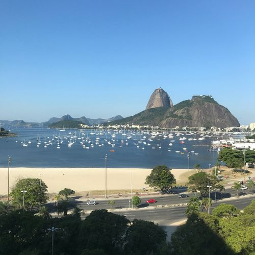 Rio💙❤️ Water Sky Sea Copy Space Beach Clear Sky Nature Architecture Blue City Mountain Day Sunlight