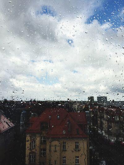 Poznań Poland Rain Rainy Days typical Polish summer day