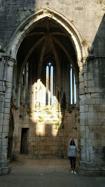 Arch Architecture Day One Person Castles Leiria Portugal