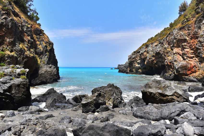 Azzuro Vacations Cliff Water Landscape Cave No People Tranquility Sky Horizon Over Water Calabria (Italy) Arco Magno Mountain Nature Sea Wave