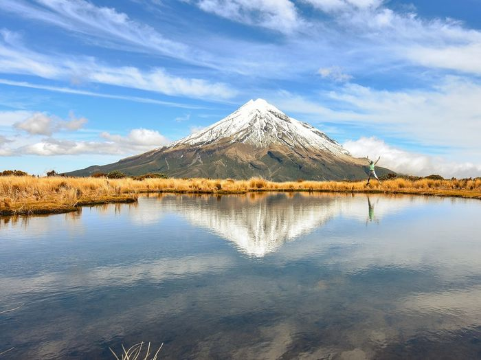 Reflection Water Landscape Sky Nature No People Outdoors Beauty In Nature Tranquility New Zealand Scenery New Zealand Photography New Zealand Landscape Scenics Beauty In Nature Taranaki Landscape Cloud - Sky Mountain EyeEmNewHere