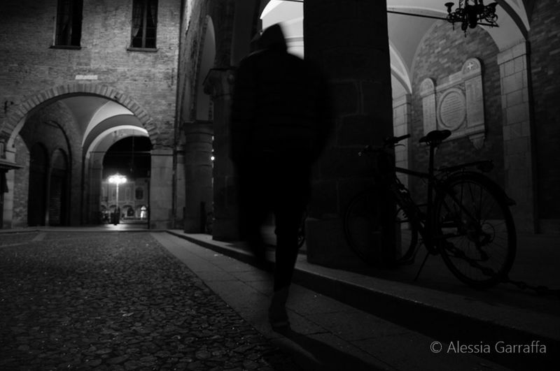 Walker in a deserted street Italy🇮🇹 Night Blackandwhite Medievalstreet Walking Citynight