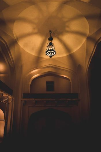 Chandelier Built Structure Architecture Indoors  Building Low Angle View Arch Religion No People Lighting Equipment The Past Place Of Worship Belief Ceiling Spirituality Hanging Illuminated History Capture Tomorrow