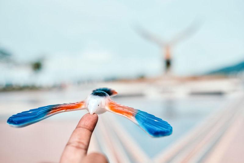 Travel Close-up Focus On Foreground Holding Human Hand Landmark Langkawi Island Malaysia Leisure Activity Souvenier Toy Visual Creativity