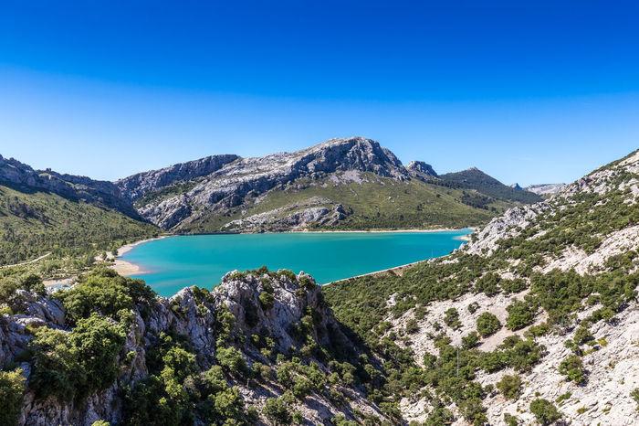 Gorg Blau Reservoir Lake in Mallorca, Spain Mallorca SPAIN Balearic Islands Blue Gorg Blau Idyllic No People Non-urban Scene Reservoir Scenics - Nature Tramuntana Tranquil Scene Water