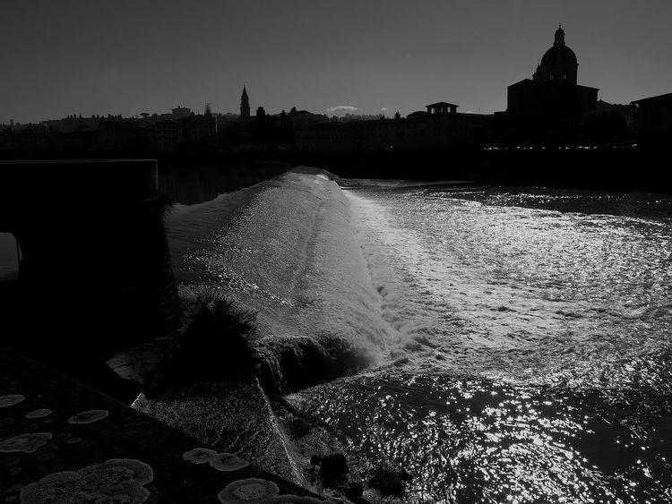 Black And White Chiesa Di Cestello Firenze Lungarno River Riverflow Santa Rosa Tuscany