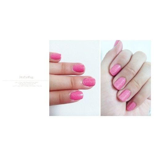 Lovin' this Candy Pink Inspired of my Nails.❤ This is so me! BarbieInspired CandyPink Quartz ShinningShimmerinSplendin Glitters NOTD NailLacquer Gurlish HelloMonday