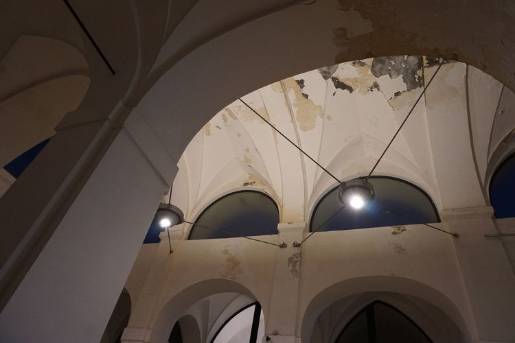 Low angle view of ceiling of cathedral