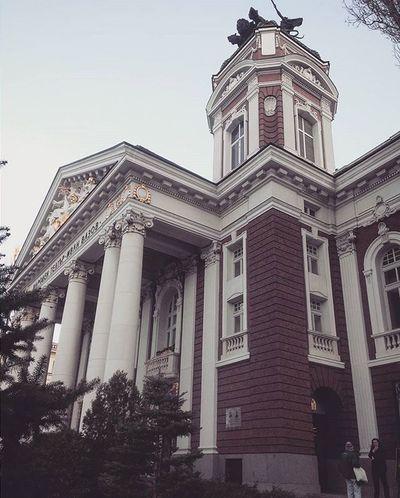 Sofiacity Nationaltheatre Urban Oldbuildings Herritage History