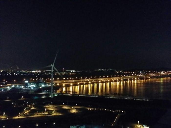경인아라뱃길 정서진 South Korea Incheon Korea Phonecamera Night Winter Christmas2015 전망대