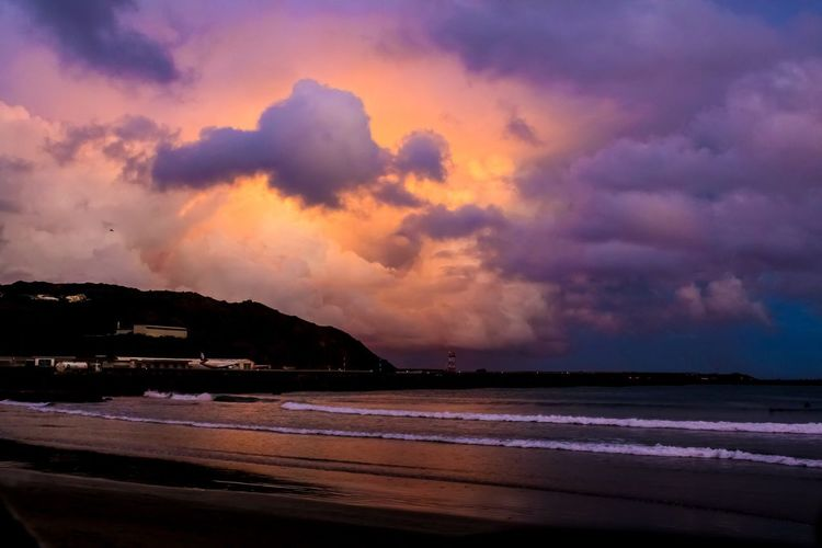 There's just something about a sunset... Sea Sunset Tranquil Scene Scenics Water Beach Beauty In Nature Tranquility Shore Calm Sky Idyllic Nature Cloud - Sky Coastline Majestic Cloud Ocean Mountain Orange Color