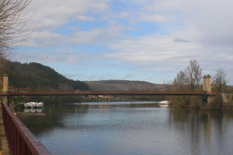 Bridge Cloud - Sky Pont River Riviere Sky Tranquility Water