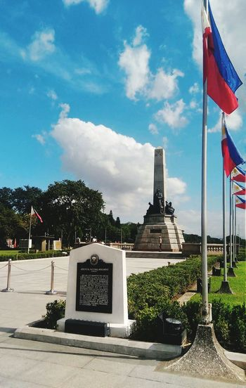 Luneta Park, Philippines Flag No People Patriotism City Sky Outdoors Day Luneta Park Luneta Park National Hero Nationalism Clouds Blue Sky Rizal Rizal Park Philippines Manila