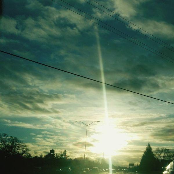 Beautiful Sky Landlines Streetlight Sunshine Streetlamp Streetlamps Streetlights Sunlight