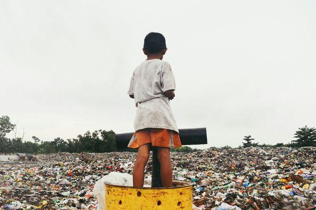 Landfill Zone Trash Landfill Waste Palangkaraya EyeEm Selects End Plastic Pollution City Full Length Sky