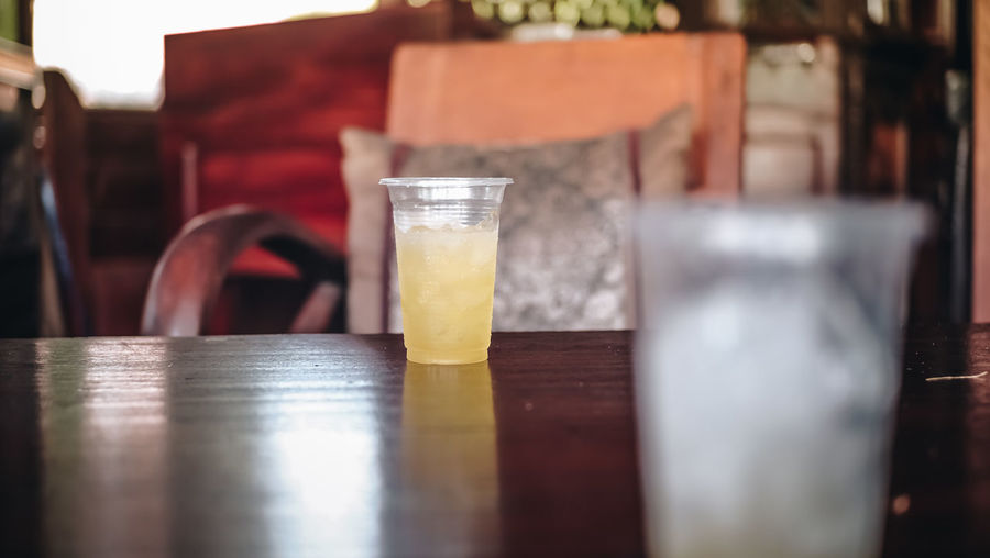 Close-up Drink Drinking Glass Food And Drink Freshness Glass Indoors  No People Selective Focus Table Wood - Material