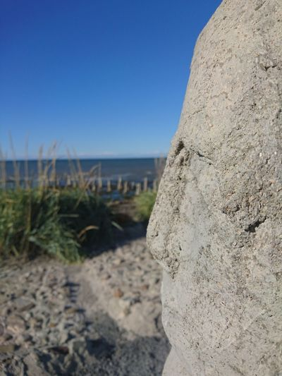 Stonestatue Close-up Mypointofview Art Horizon Over Water Sea Stone - Object Outdoors Beauty In Nature Emotions
