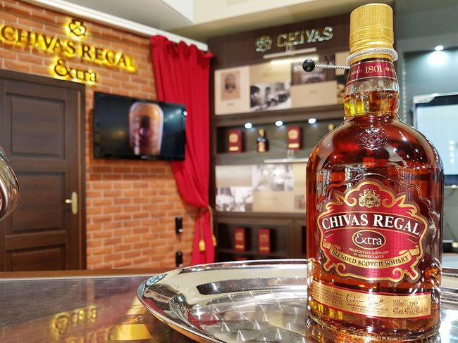Bottle Drink Text Refreshment Bar - Drink Establishment Alcohol No People Indoors  Close-up Day Chivas Regal Rivera