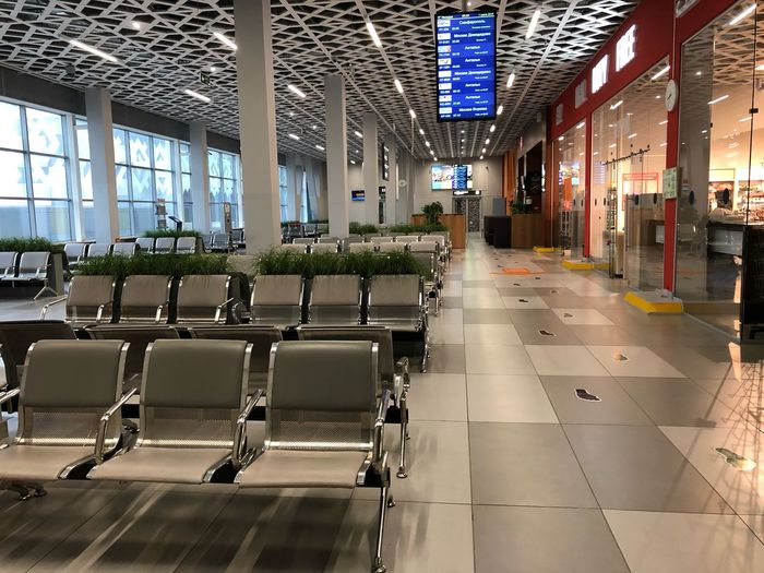 Empty seats at airport