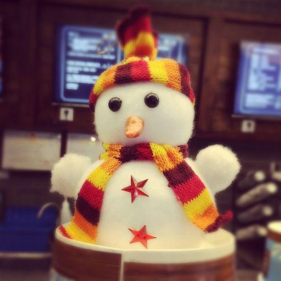 coffee bene-snowman