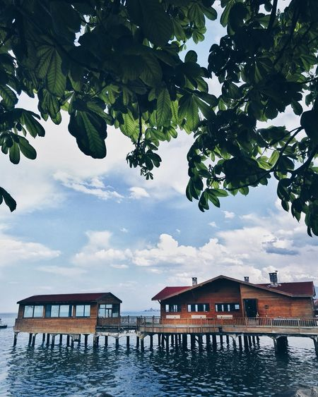 There is no one here🤐 Nature No People Cloud - Sky Sky Day Architecture Water Stilt House Followforfollow FOLLOE ME-I Follow Back First Eyeem Photo Love To Take Photos ❤ Skyline EyeEmNewHere Cloud And Sky Followback Architecture Beautiful Sky Building Exterior Built Structure House Tree Outdoors Lake Roof