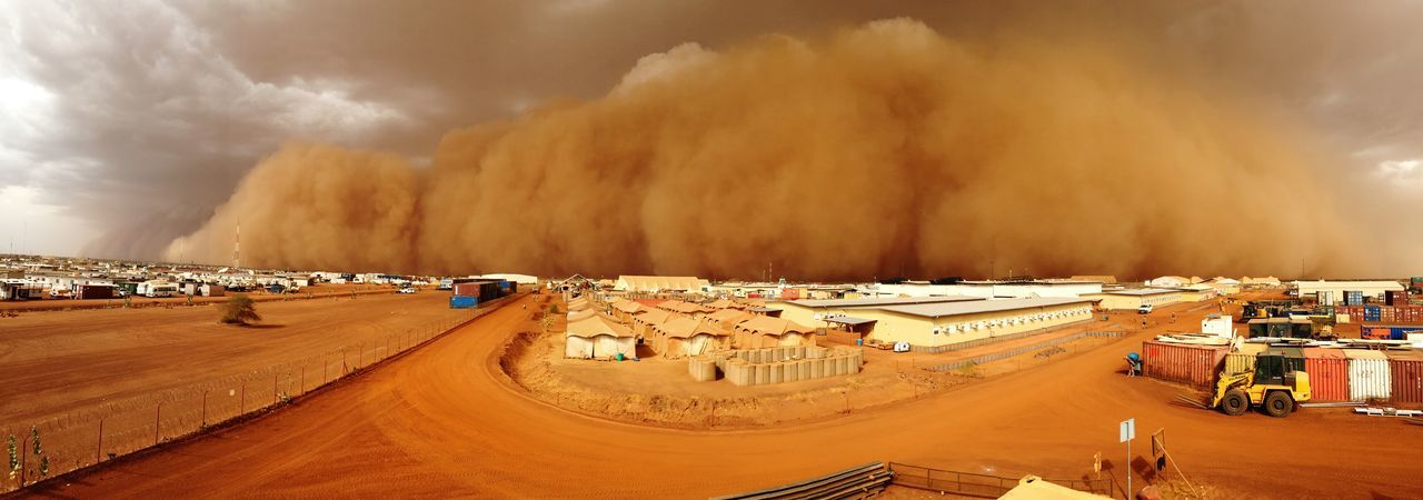 Panoramic Day Road Nature Cloud - Sky Smoke - Physical Structure War Mali Afrika Africa Bundeswehr Soldier Sandstorm Storm Sand Sandy