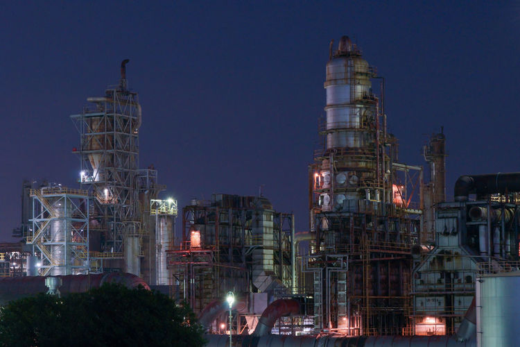 I took a photo at a famous factory night view spot in japan.