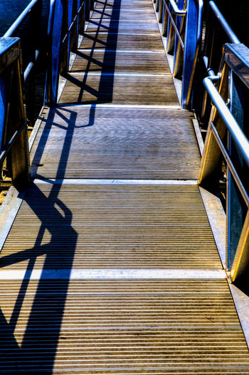 Gangplank Gangplank Marina Abstract Direction In A Row Panels Pathway Railing Shadow Staircase Steps And Staircases The Way Forward