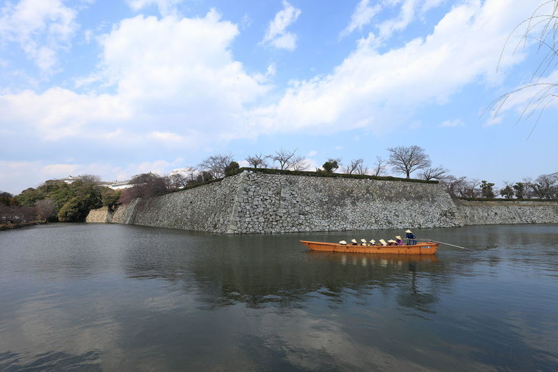 Blue Sky Boat Himeji Castle Japan Japan Photography Outdoors Sky And Clouds Travel Travel Destinations Water Water Reflections